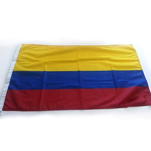 Adatech Bandera de Colombia 90x150 cm Bandera Colombiana Poliester Adapta mastil WM...