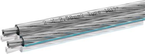Oehlbach Silverline 25 - Lautsprecherkabel 2 x 2,5mm², versilbert - SPOFC hochflexibel mit ultradünnen Einzellitzen - Meterware - transparent