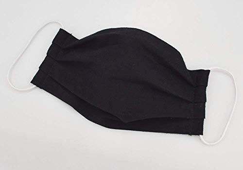 Mund- & Nasenmaske - Schwarz Uni - Baumwollmaske