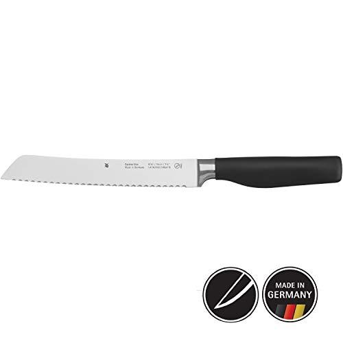 WMF Cuisine One Brotmesser mit Doppel-Wellenschliff 33 cm, geschmiedet, Spezialklingenstahl, Performance Cut, Kunststoffgriff, Klinge 19 cm