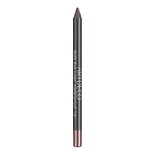 ARTDECO Soft Eyeliner Waterproof, Kajalstift braun, Nr. 12, warm dark brown