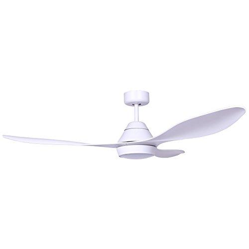 Faro Barcelona 33346- POLARIS Ventilador de techo con luz LED, Blanco con motor DC
