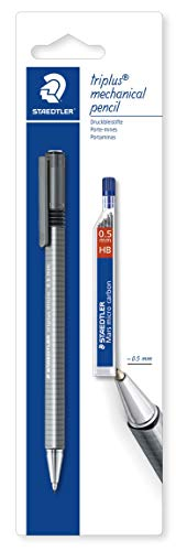 Staedtler Triplus Micro, Porte-mine de 0.5 Mm pour Écriture et dessin, Étui Blister avec 1 Porte-mine et 1 Étui de Mine Hb 0.5 Mm, 77425bk25d