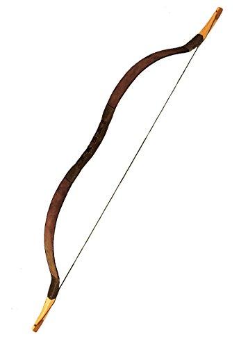 Reiterbogen LARP-Bogen aus Fiberglas LARP Bogenschütze Mittelalter verschiedene Farben (Braun)