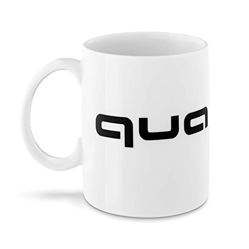 Audi collection 3291800700 Quattro Tasse, weiß/schwarz