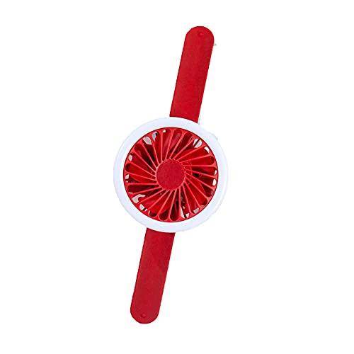 LJJOO Fan de Carga Reloj de Dibujos Animados Ventilador de Relojes para niños Mini Mini portátil Fan, Adecuado para el hogar, Oficina, Viajes al Aire Libre Ventiladores