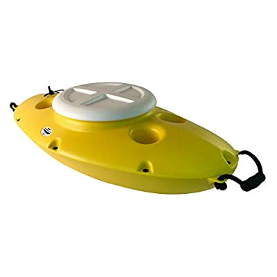 Kayak or Canoe River Floating Beverage & Food Storing Cooler (Yellow)