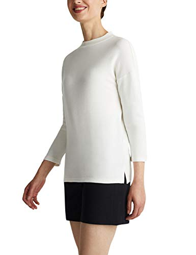 Esprit 030eo1j301 Sudadera,Blanco ( 100/White ) , XS para Mujer