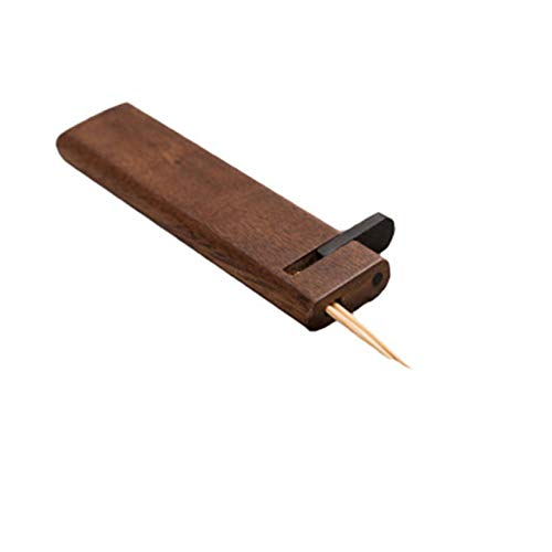 Goodvk Dispensador de Palillos de Dientes Tenedor de Madera de Incienso de Incienso Producto Creativo Caja de palillo Japonesa Aplicación Amplia (Color : Black Walnut, Size : 2.4Xx0.9x1.6cm)