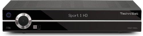 TechniSat DIGIT HD8+ HDTV-Sat-Receiver (HDMI, 2x Scart, 2x USB, HD+ Karte, 2x CI+) schwarz