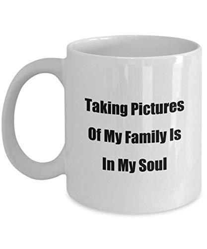N\A Familien-Zitat-Geschenk-Becher, der Teil Einer Familie ist, bedeutet, für Fotos zu lächeln Klassische keramische Kaffee-Teetasse für Mama Papa Bruder Schwester Tante Onkel Oma Gra