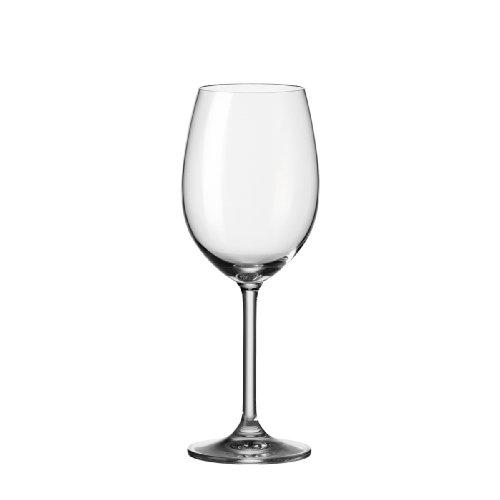 Leonardo Rotweingläser Daily, Rotweinglas im Basic-Stil gehalten, Rotweinkelch mit Stiel und 460-ml Füllmenge, 6-teilig, 063316