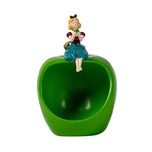 KHUY Bandejas Decorativas, Vaciabolsillos Moderno para Mesas de Café Bandejas de Exhibición de Joyas Bandejas Oficina Multifuncional Decoración Hogar Organizador de Llaves (Color : Green)