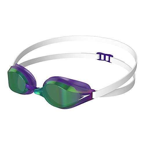 Speedo Fastskin Speedsocket 2 Mirror Goggle Swimming, Unisex-Adult, White/Violet/Green, One Size