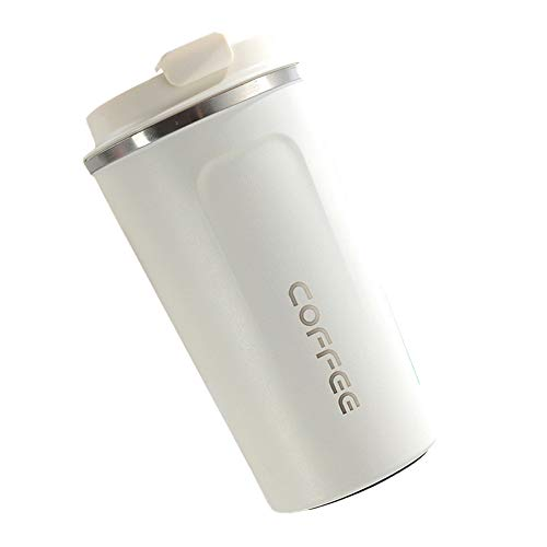 LAJIOJIO Botella isotérmica de acero inoxidable, 380 ml, para senderismo, fitness, bicicleta, escuela y oficina, botella de agua