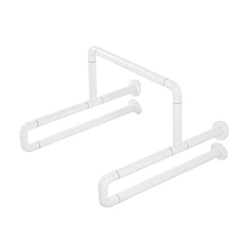 Handrail Weiße WC-Greifen-Bar-Edelstahl-Badezimmer-Sicherheitshandbahn mit Leuchtstoffring für ältere Kinder Personen