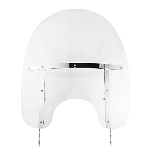 Clear Detachable Motorcycle Windscreen Windshield Compatible With 2000-UP Harley Davidson Heritage...