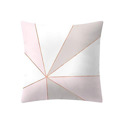 VJGOAL Moda Casual Imprimir Rosa Extraíble y Lavable Decoración del Hogar Funda de Cojín Cuadrado Suave Funda de Almohada 45cmx45cm(45_x_45_cm,Rosado11)
