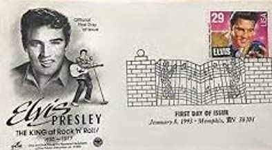 Elvis Presley First Day Cover Cachet - 1993 King Of Rock 'n' Roll 1935-1977 FDC #2721
