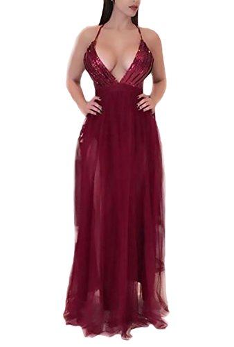 Mujer Vestido Coctel Modernas Casual Hilado Neto Splicing Talle Alto Vestidos De...