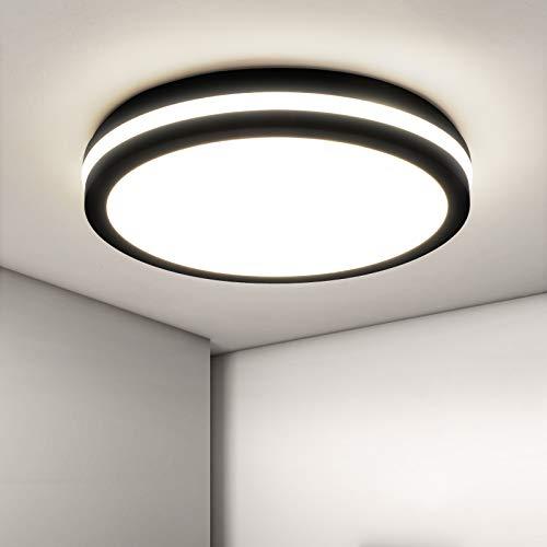 LED Deckenleuchte Bad, 18W 1800LM IP54 Wasserfest Badlampe, OPPEARL Flimmerfrei Deckenlampe für Wohnzimmer Küche Balkon Schlafzimmer Flur Badezimmer, Neutralweiß 4000K