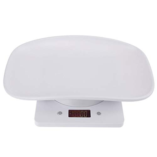 Measuring Tools 1g-10kg Pet Dog Cat Animal Scale Digital Baby Infant Weight Scale (kg/oz/lb) LCD Display (Color : White)