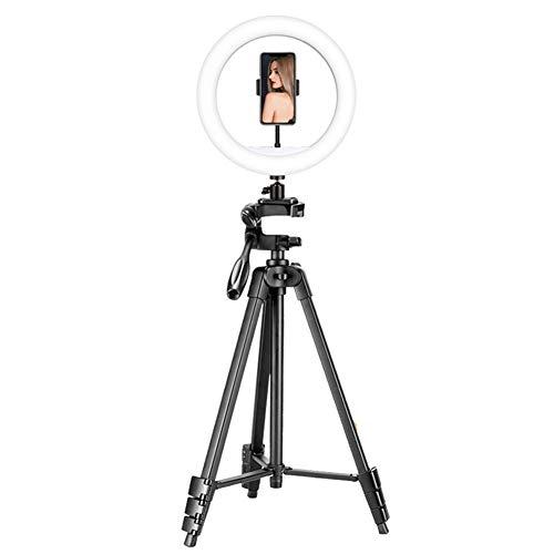 Palo Selfie Trípode, Selfie Stick con Anillo de luz LED para Fotografía para Cámara Deportiva, Móvil, Gopro, Sirve para Youtube Maquillaje, Aro de luz Ajustable