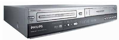 Philips DVDR 3320 V DVD-Rekorder/Videorekorder-Kombination (DivX-zertifiziert) silber