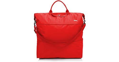 LongChamp Women's Le Pliage Weekender Expandable Travel Bag Vermillon