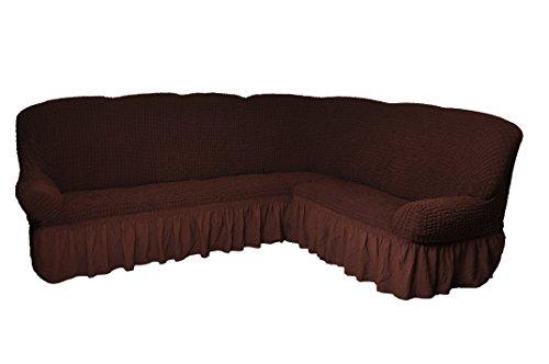Bezug für Ecksofa 2er + 3er Eckcouch Sofabezug Husse in 7 Farben