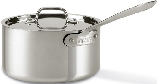 All-Clad 7203.5 MC2 Professional Master Chef 2 Stainless Steel Bi-Ply Bonded Oven Safe PFOA Free 3.5-Quart Saucepan/Cookware, Silver