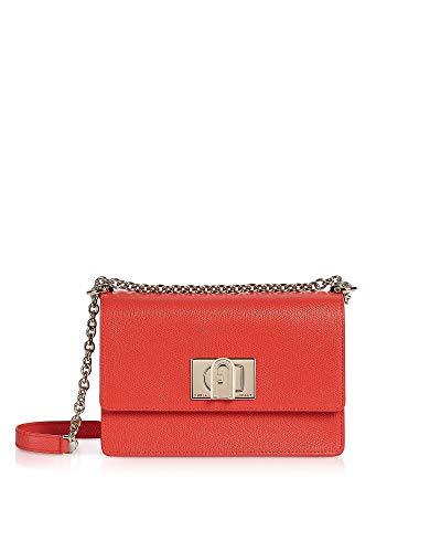 Luxury Fashion | Furla Dames 1056934 Rood Leer Schoudertassen | Lente-zomer 20