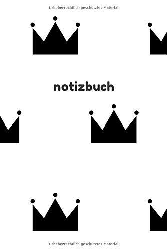 Notizbuch: Punktraster A5 Krone Schwarz Heft für Notizen Lettering Skizzen | Dot Grid Journal | Gepunktetes Tagebuch 120 Seiten mit Punktpapier