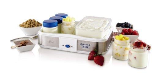 Oster CKSTYM1010 Mykonos Greek Manual Yogurt Maker, 2-Quart