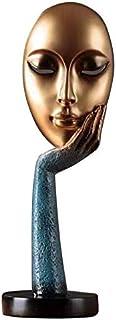 AOVOY Statues D/écoratives Vin Moderne Cabinet Cabinet D/écoration Figurines Artisanat Salon Visage Humain Vase Home Decor Abstrait Ornements Oeuvre Cadeau Blanc