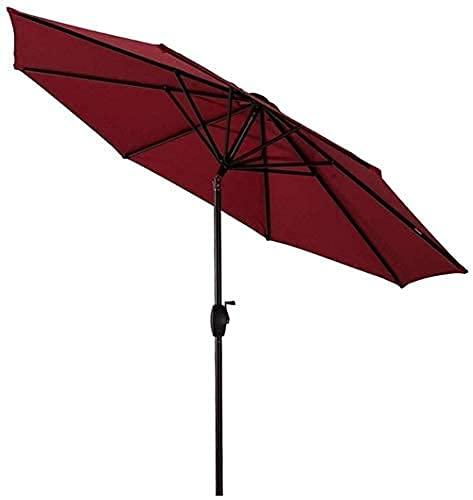 H-BEI Sombrilla para el Sol Sombrilla para jardín, 9 pies / 270 cm, para Patio, Mesa de jardín, con Ajuste de inclinación, Exteriores, Playa, Mercado de Eventos comerciales
