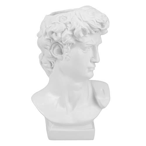 YARNOW Jarrón de Escultura de Cabeza de Griego Florero de Flor de Cabeza de Arte Plantador de Cabeza Pequeña Maceta de Arte de Retrato Pincel de Maquillaje para Decoración del Hogar