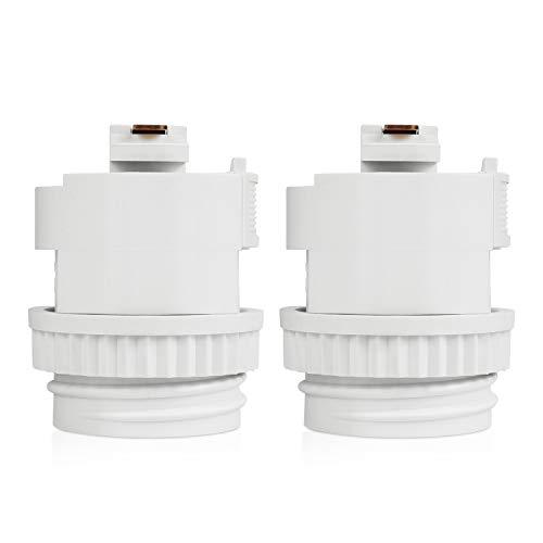 DiCUNO ライティングレールソケット ダクトレール用 電球ソケット 白 E26口金対応 LED専用レール照明器具 天井照明 2個セット