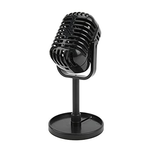 Gaeirt Micrófono de Apoyo, micrófono Falso Altamente simulado para filmar para Decoraciones para Regalos(Negro)