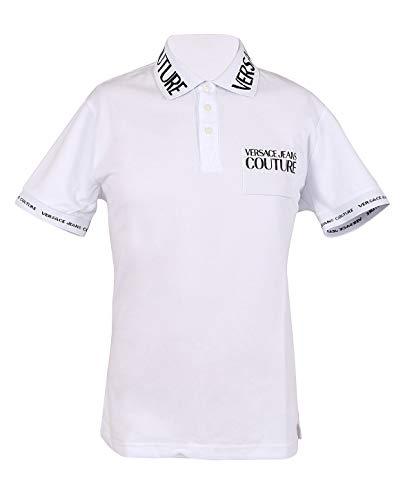 Versace Jeans Couture Herren Polo Poloshirt, Weiß (Bianco Ottico 003), X-Large (Herstellergröße: 54.0)