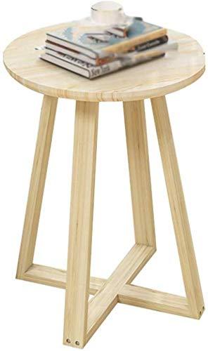 Porte-revues stable multifonction en bois - Table basse - Diamètre : 40 à 60 cm - Couleur : C - Taille : 40 cm