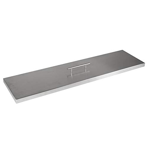 """Celestial Fire Glass Fire Pit Cover for 30""""x6"""" Linear Burner Pan (33' x 9' Actual Size), Stainless Steel"""