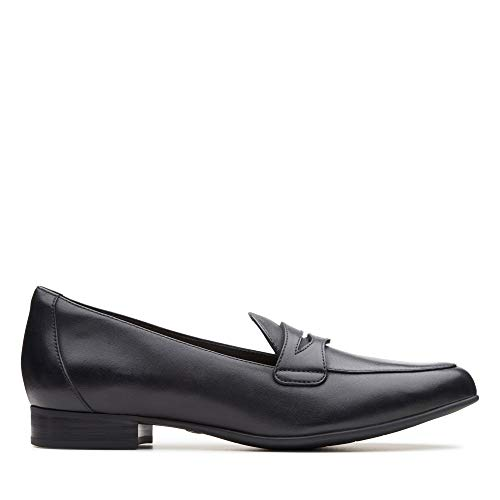 Clarks Damen Un Blush Go Slipper, Schwarz (Black Leather), 43 EU