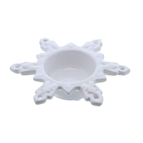 Li'Shay White Ceramic Snowflake Tealight Holder