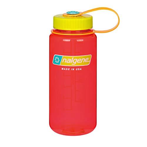 NALGENE ナルゲン 広口 0.5L TRITAN プラスチックボトル 水筒 MADE IN USA(91426 POMEGRANATE)ジャグキャップ登山 サイズ