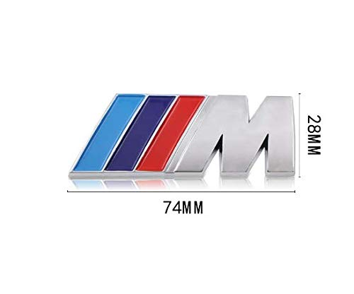 Mundocoche Emblema Adhesivo M para Maletero Compatible para B M W.