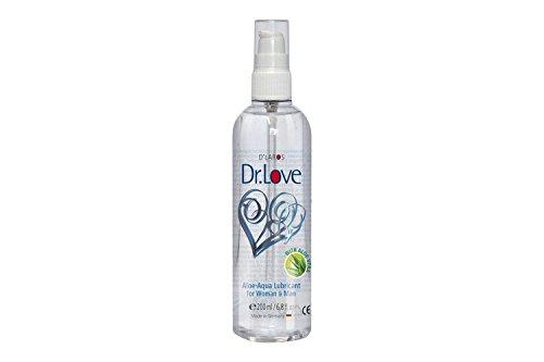 Dr. Love Aloe Aqua Gleitgel (200 ml). Das sensitive wasserbasierte Gleitmittel mit regenerativer, hautschützender Aloe Vera. Parfümfrei.