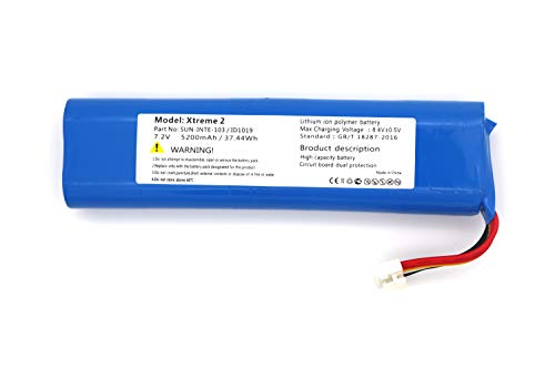 Replacement Battery for JBL Xtreme 2 XTREME2BLKAM XTREME2BLUAM 2INR19 66-2 SUN-INTE-103