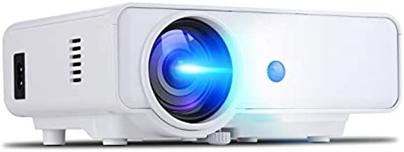ERISAN F20W HD Projector, 450 ANSI Brightness, 1080P Supported Portable LED Video Beam, Compatible w/HDMI,TV Stick for Multimedia Movie Games