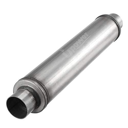 Upower 2.25' Inlet/Outlet Exhaust Muffler Aluminized 18' Body Length 22' Overall Length 2 1/4 inch Resonator Muffler Fits 50251FLT Weld on
